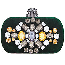 Buy John Lewis Jem Jewel Box Clutch Bag, Green Online at johnlewis.com