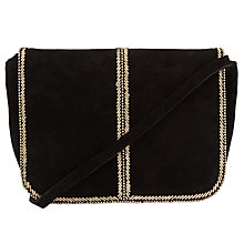 Buy Collection WEEKEND by John Lewis Amelie Bead Across Body Bag, Black/Gold Online at johnlewis.com