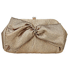 Buy John Lewis Anna Bow Bow Clutch Bag, Gold Online at johnlewis.com