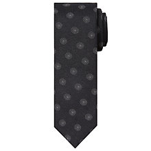 Buy Calvin Klein Dot Silk Tie, Black/White Online at johnlewis.com