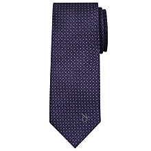 Buy Calvin Klein Geo Dot Silk Tie, Purple Online at johnlewis.com