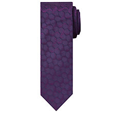 Buy Calvin Klein Honeycomb Pattern Silk Tie, Plum Online at johnlewis.com