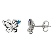 Buy Nina B Sterling Silver Crystal Butterfly Stud Earrings Online at johnlewis.com