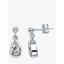 Buy Nina B Sterling Silver Teardrop Drop Earrings Online at johnlewis.com