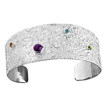 Buy Nina B Semi-Precious Stones Textured Cuff Online at johnlewis.com