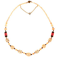 Buy Alice Joseph Vintage 1920s Gold Toned Glass Opaline Bead Necklace, Blush/Black Online at johnlewis.com