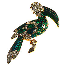 Buy Alice Joseph Vintage 1980s Craft Gold Toned Enamel Toucan Brooch, Blue/Green Online at johnlewis.com