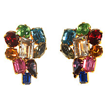 Buy Alice Joseph Vintage 1950s Gold Toned Diamante Clip-On Earrings, Multi Online at johnlewis.com