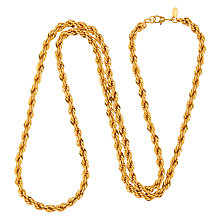 Buy Susan Caplan Vintage 1970s Monet Gold Plated Rope Chain Necklace, Gold Online at johnlewis.com