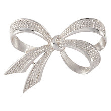 Buy Susan Caplan Vintage 1960s Boucher Silver Plated Bow Brooch, Silver Online at johnlewis.com