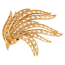 Buy Susan Caplan Vintage 1970s Monet Gold Plated Leaf Brooch, Gold Online at johnlewis.com