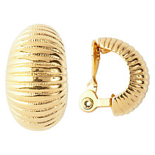 Buy Susan Caplan Vintage 1980s Monet Gold Plated Half Hoop Clip-On Earrings, Gold Online at johnlewis.com