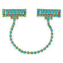 Buy Susan Caplan Vintage 1970s Gold Plated Faux Turquoise Chatelaine Brooch, Gold/Blue Online at johnlewis.com
