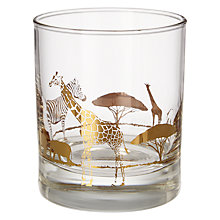 Buy John Lewis Fusion Safari Tumbler, Gold Print Online at johnlewis.com