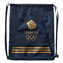 Buy Adidas Team GB Drawstring Tote Bag, Indigo/Gold Online at johnlewis.com