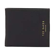 Buy Ted Baker Crater Contrast Leather Wallet, Black Online at johnlewis.com