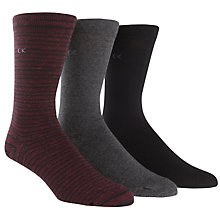 Buy Calvin Klein Stripe Plain Socks, One Size, Red/Grey/Black Online at johnlewis.com
