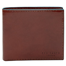 Buy Ted Baker Trainer Contrast Edge Leather Bifold Wallet, Tan Online at johnlewis.com