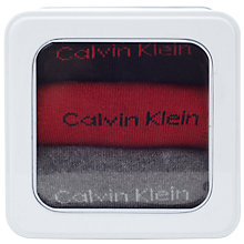 Buy Calvin Klein Solid Cotton Blend Socks, Pack of 3, One Size Online at johnlewis.com