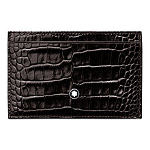 Buy Montblanc Meisterstück Selection Pocket Credit Card Holder, Mocha Online at johnlewis.com