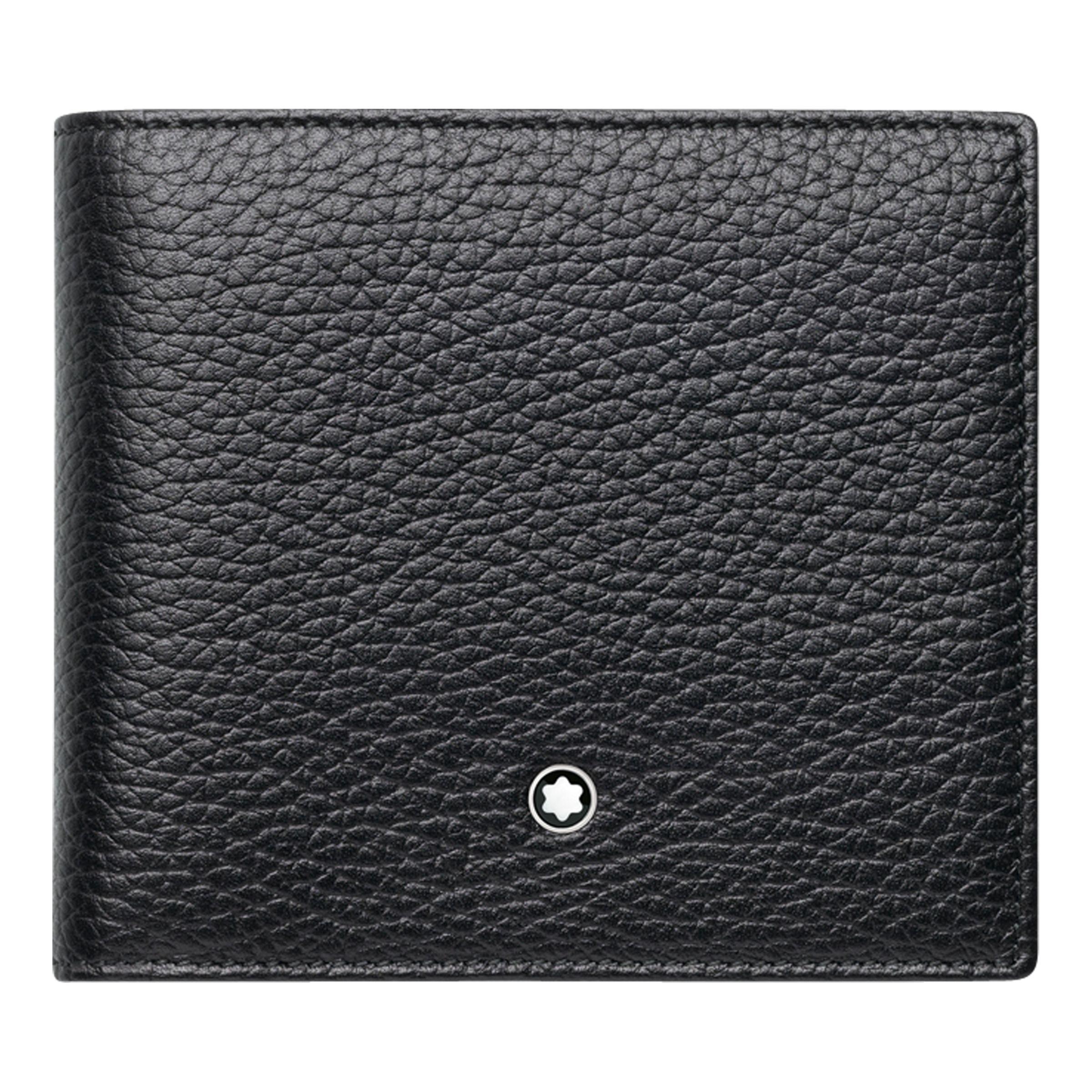 Montblanc Montblanc Meisterstück Soft Grain Leather 4 Card Wallet, Black