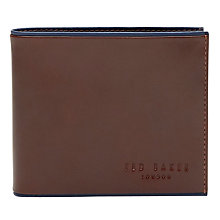 Buy Ted Baker Contrast Leather Wallet, Tan Online at johnlewis.com