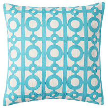 Buy west elm Crewel Circle Lattice Cushion Online at johnlewis.com