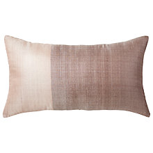 Buy west elm Sari Silk Cushion, Rose Online at johnlewis.com