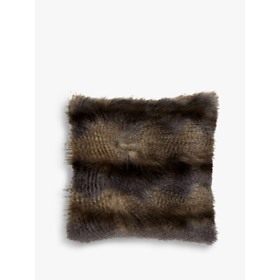Image of Helene Berman Blue Wolf Faux Fur Cushion