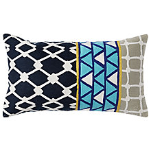 Buy west elm Linked Tiles Cushion Online at johnlewis.com