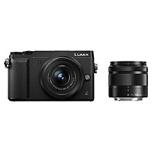 Buy Panasonic LUMIX DMC-GX80 Compact System Camera with 12-32mm + 35-100mm Interchangable Len, Black plus Panasonic GX80 Leather Camera Case and SanDisk 32GB microSD Memory Card Online at johnlewis.com