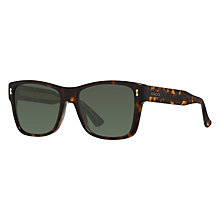 Buy Gucci GG 1149/S Square Sunglasses, Dark Tortoise/Grey Green Online at johnlewis.com