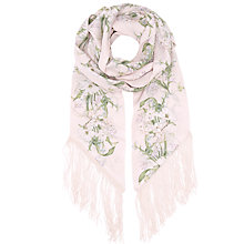 Buy Miss Selfridge Fringe Scarf, Nude Online at johnlewis.com