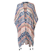 Buy Fat Face Tile Patchwork Cape, Coral Online at johnlewis.com