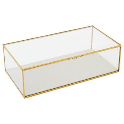 west elm Golden Hexagon Glass Box, Small