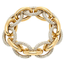 Buy Adele Marie Link Stretch Bracelet, Gold/Silver Online at johnlewis.com
