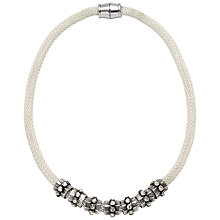 Buy Adele Marie Mesh Rope Bead Necklace, Silver Online at johnlewis.com