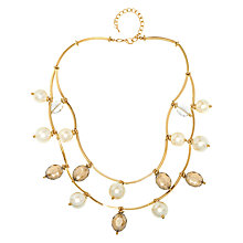 Buy Adele Marie Two Row Faux Pearl and Bead Chain Necklace Online at johnlewis.com
