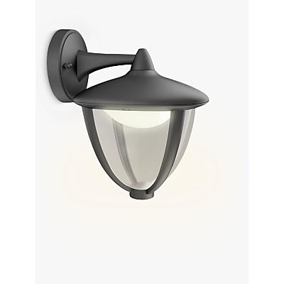Philips Robin Outdoor LED Lantern Wall Light, Black