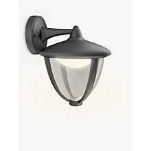 Buy Philips Robin Outdoor LED Lantern Wall Light, Black Online at johnlewis.com