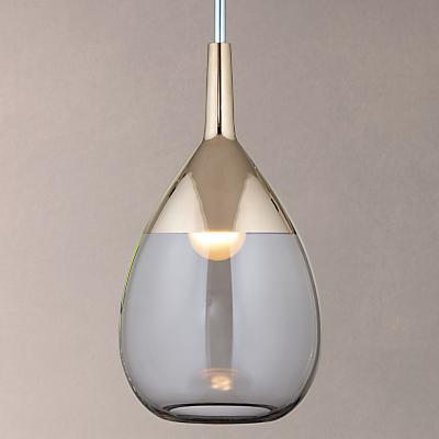 Ebb & Flow Lute Pendant Ceiling Light, Grey/Platinum
