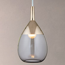 Buy Ebb & Flow Lute Pendant Ceiling Light, Grey/Platinum Online at johnlewis.com