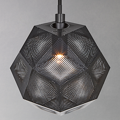 Tom Dixon Etch Mini Pendant Light, Black