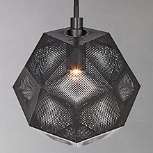 Buy Tom Dixon Etch Mini Pendant Light, Black Online at johnlewis.com