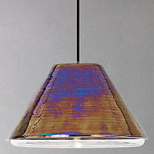 Buy Tom Dixon Flask Cone Ceiling Light, Oil Online at johnlewis.com