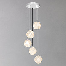 Buy Tom Dixon Etch Mini Chandelier, Soft Silver Online at johnlewis.com