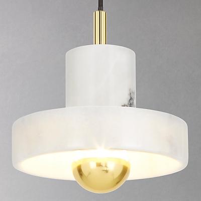 Tom Dixon Stone Pendant Ceiling Light, Marble/Brass