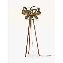 Buy Tom Raffield Skipper Floor Lamp, Walnut Online at johnlewis.com