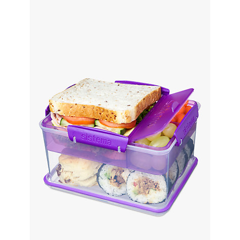 buy sistema lunch tub to go 2 3l assorted john lewis. Black Bedroom Furniture Sets. Home Design Ideas