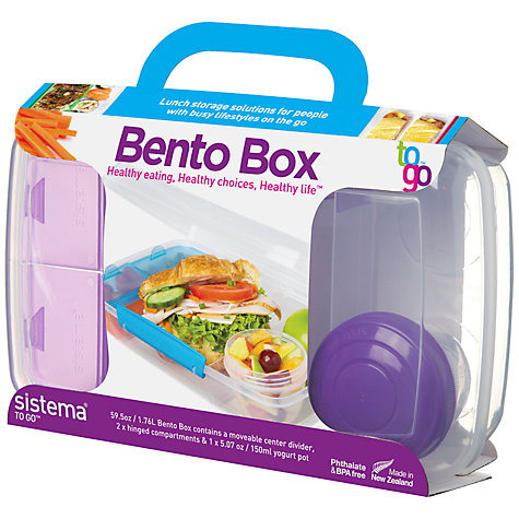buy sistema bento box food storage container john lewis. Black Bedroom Furniture Sets. Home Design Ideas